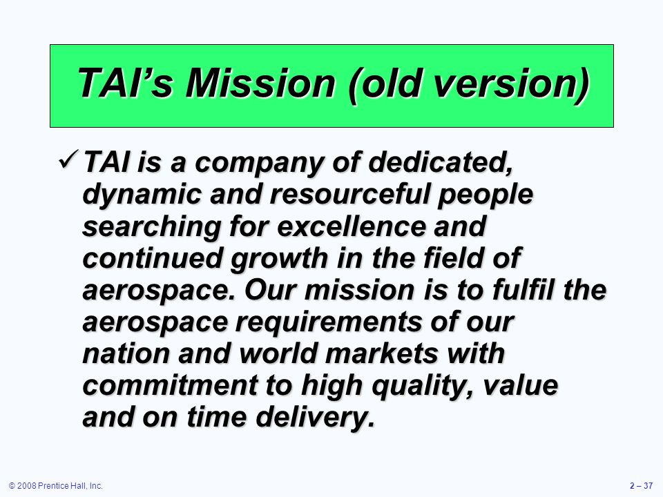TAI's Mission (old version)