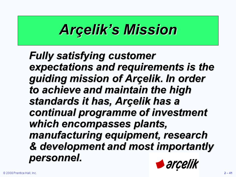 Arçelik's Mission