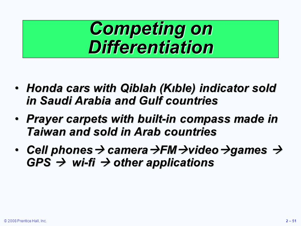 Competing on Differentiation