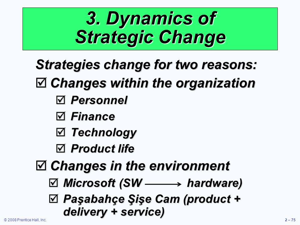 3. Dynamics of Strategic Change