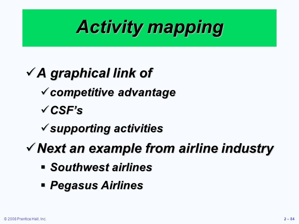 Activity mapping A graphical link of