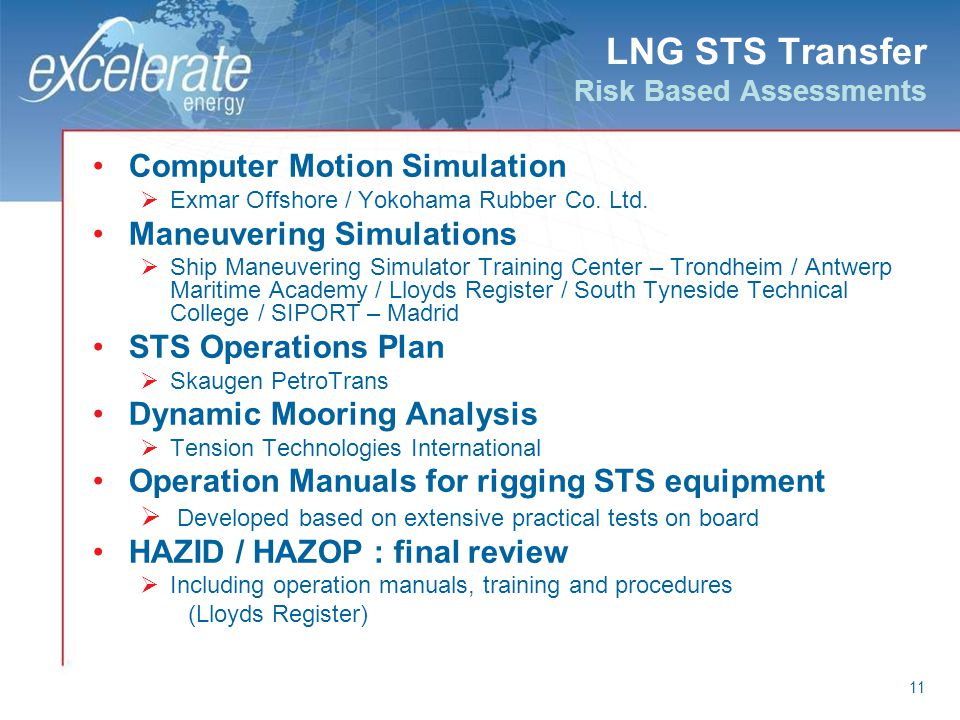 LNG STS Transfer Risk Based Assessments