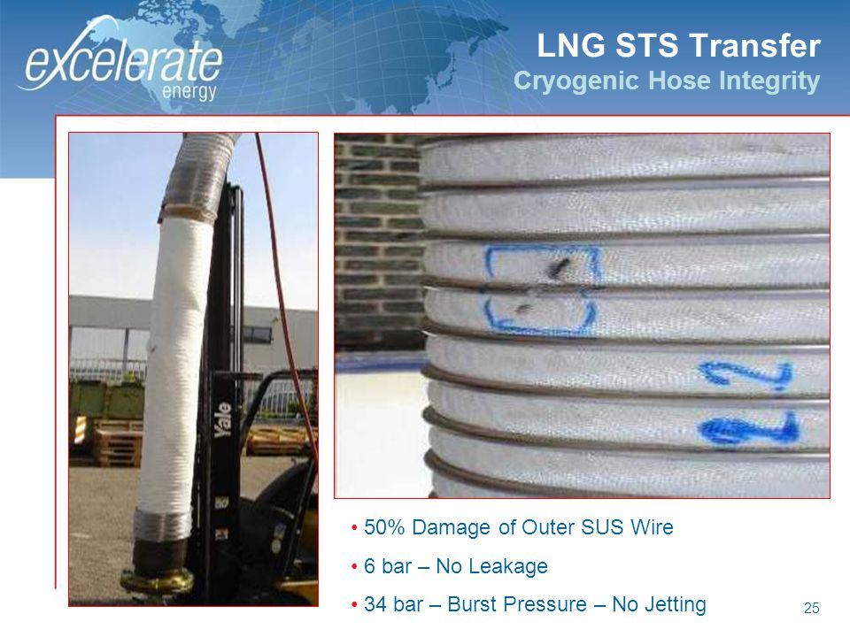 LNG STS Transfer Cryogenic Hose Integrity