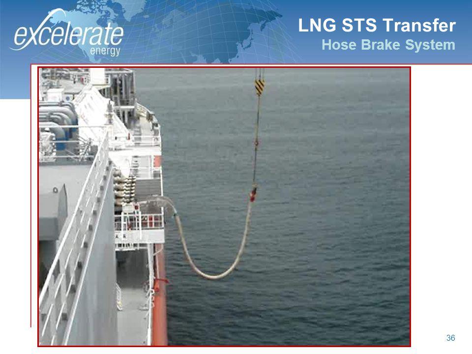 LNG STS Transfer Hose Brake System