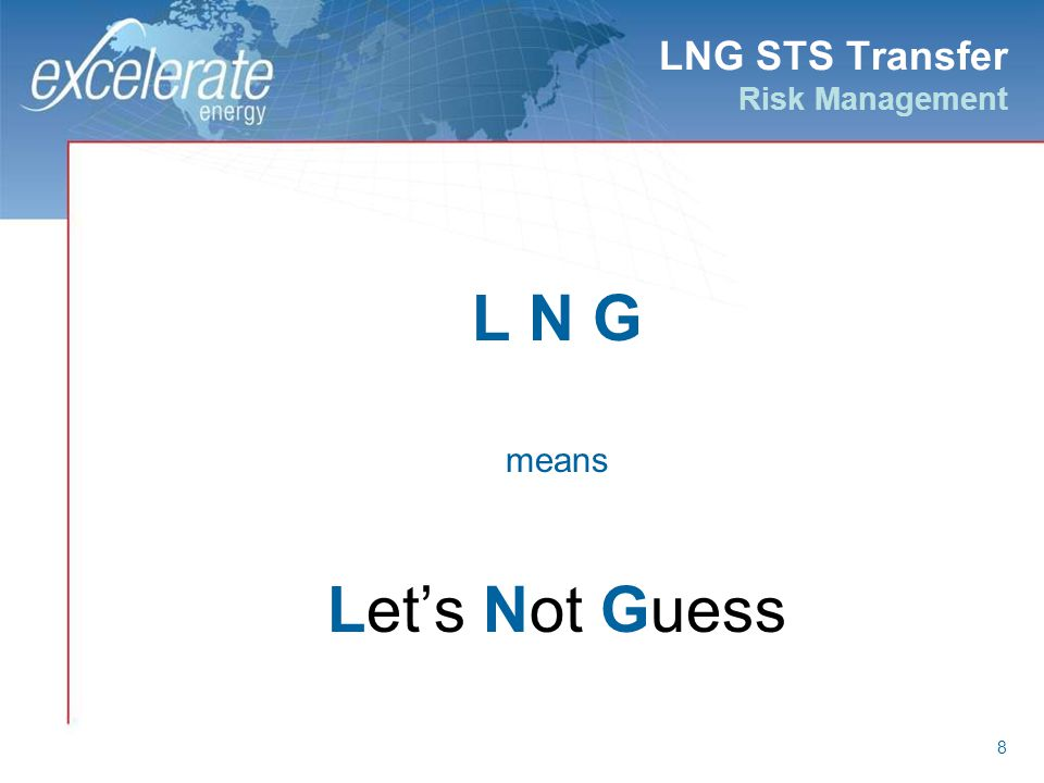 LNG STS Transfer Risk Management