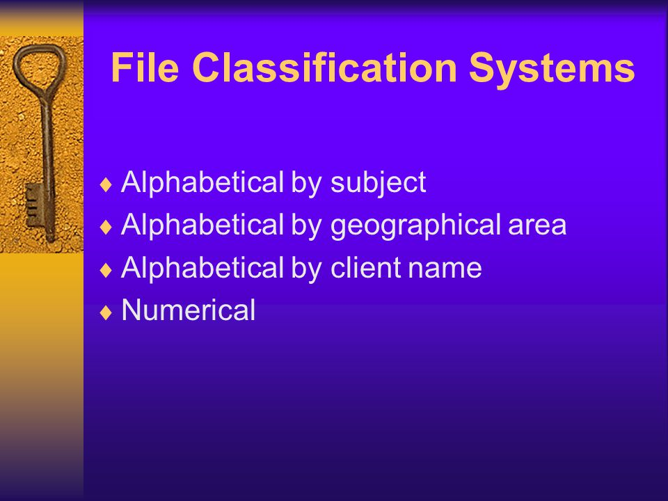 File Classification Systems