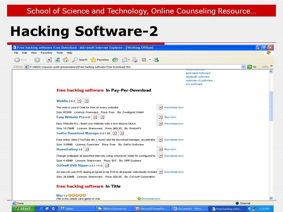 Jan 12, 2009 Hacking Software-2 © 2006, YCMOU. All Rights Reserved.