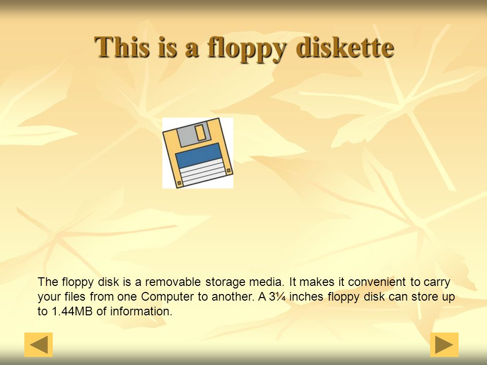 This is a floppy diskette