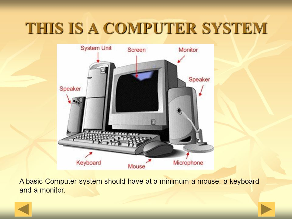THIS IS A COMPUTER SYSTEM