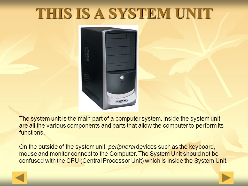 THIS IS A SYSTEM UNIT