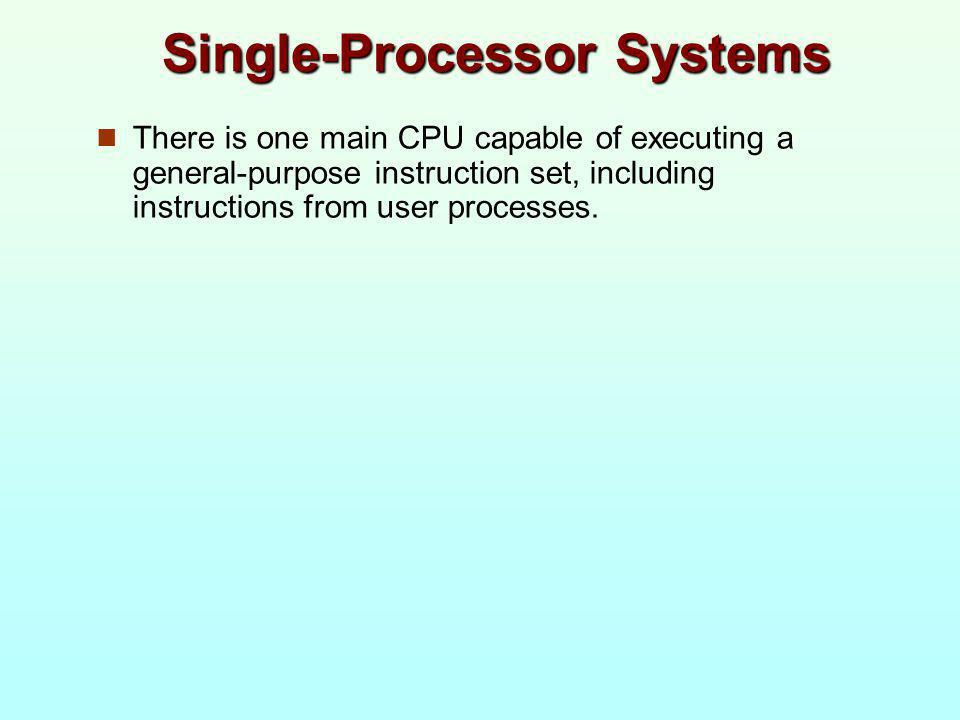 Single-Processor Systems