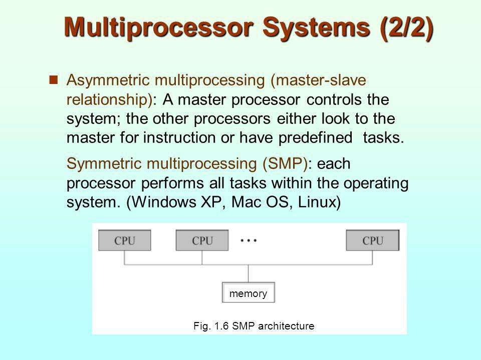Multiprocessor Systems (2/2)