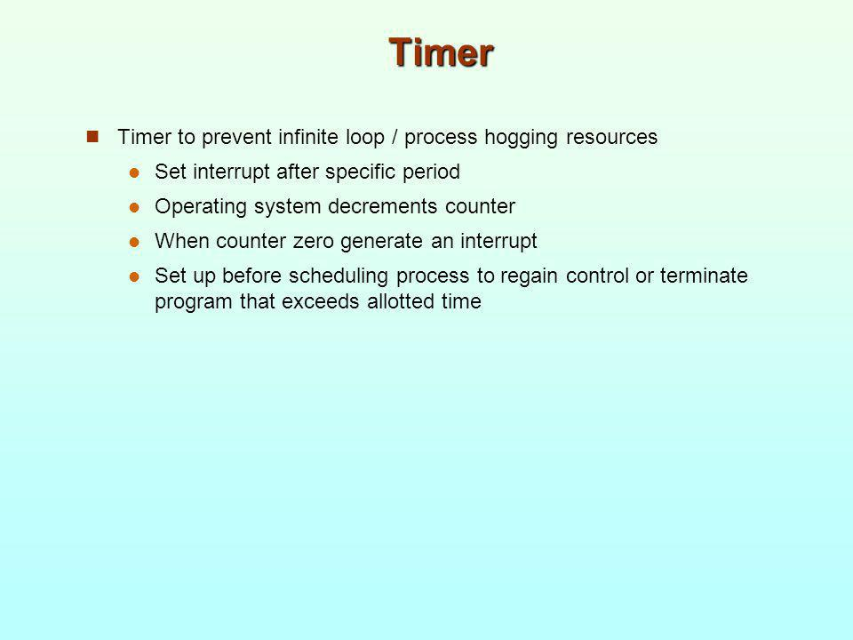 Timer Timer to prevent infinite loop / process hogging resources