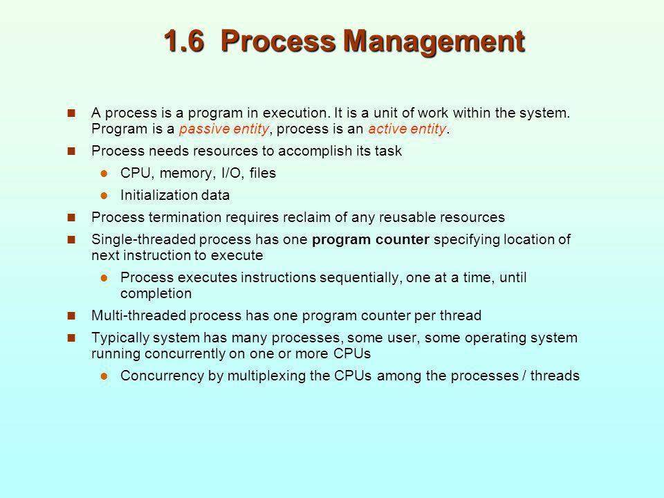 1.6 Process Management
