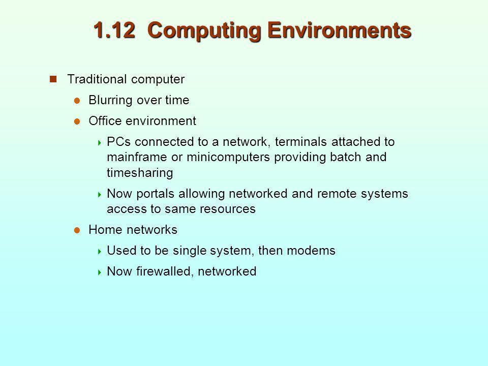 1.12 Computing Environments