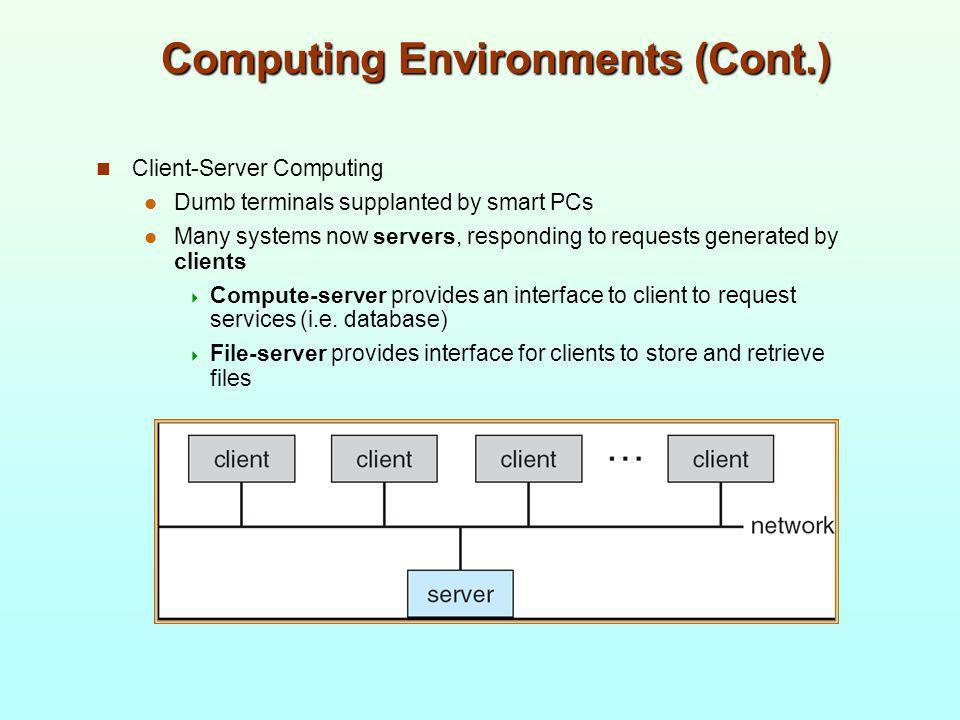 Computing Environments (Cont.)