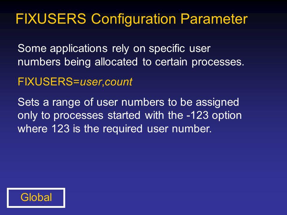 FIXUSERS Configuration Parameter
