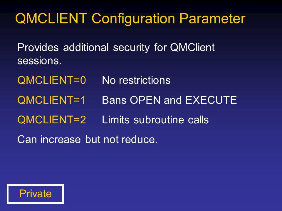 QMCLIENT Configuration Parameter