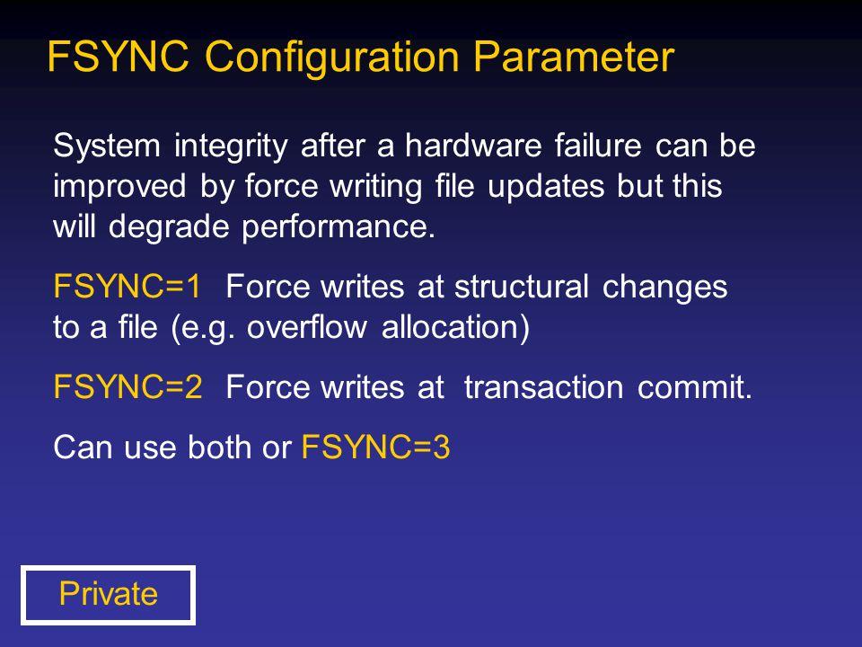 FSYNC Configuration Parameter