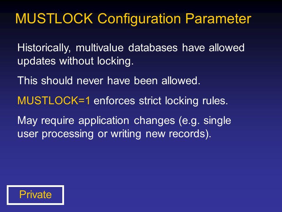 MUSTLOCK Configuration Parameter