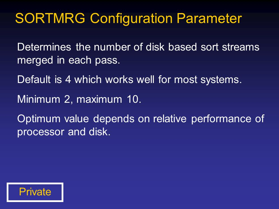 SORTMRG Configuration Parameter