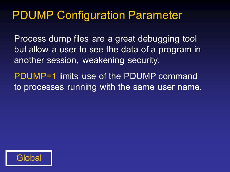 PDUMP Configuration Parameter
