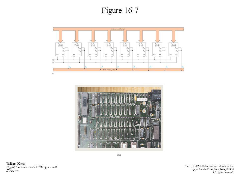 Figure 16-7 William Kleitz Digital Electronics with VHDL, Quartus® II Version.