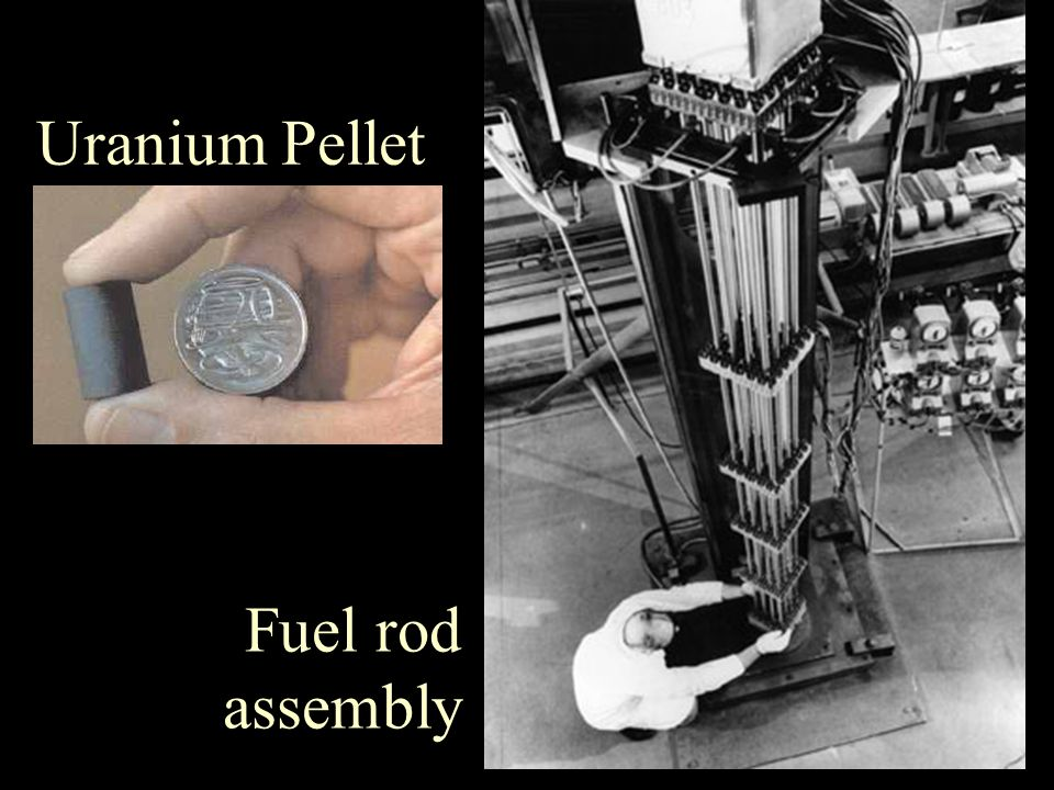 Uranium Pellet Fuel rod assembly