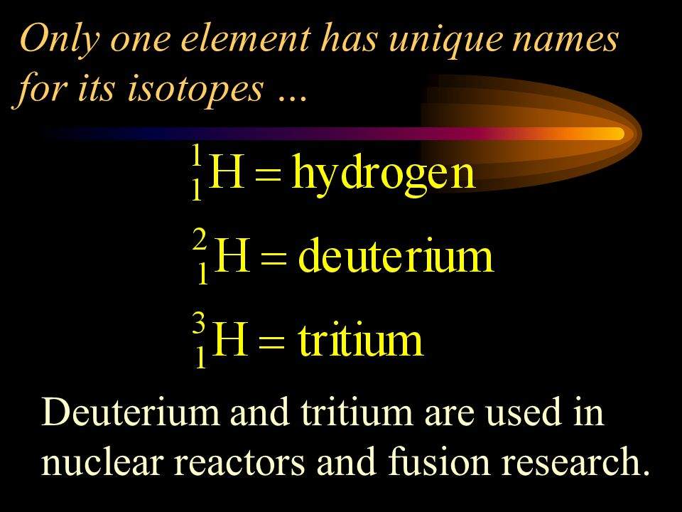 Only one element has unique names for its isotopes …