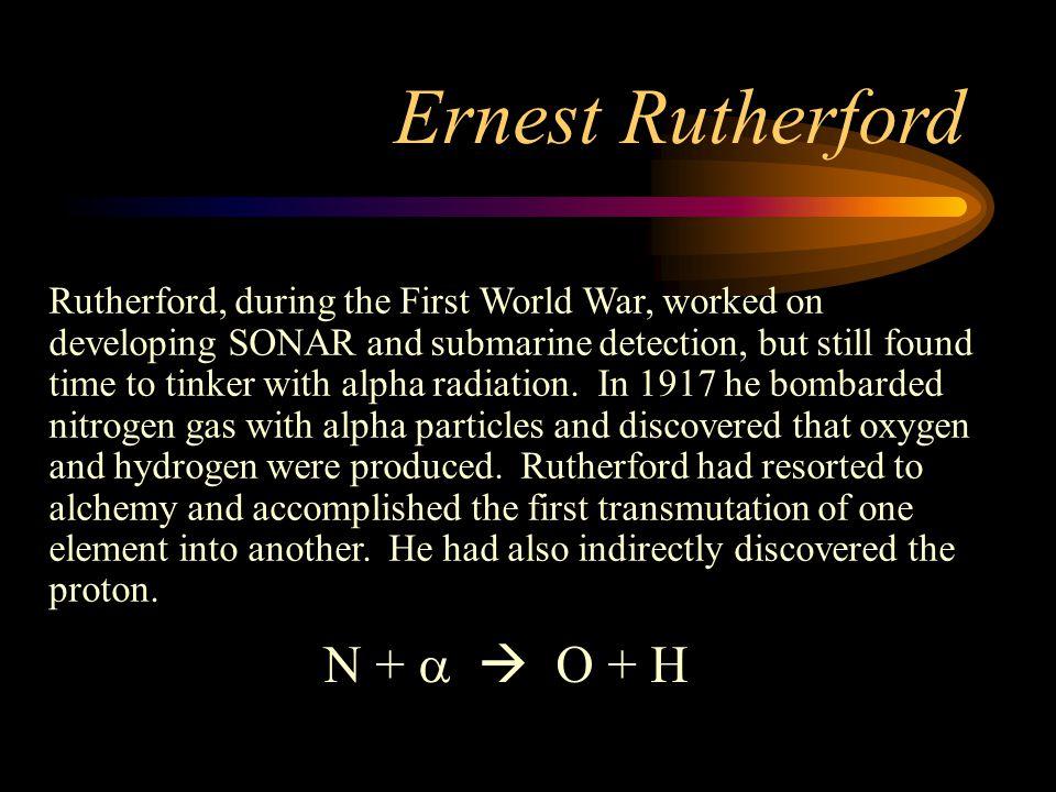 Ernest Rutherford N + a  O + H