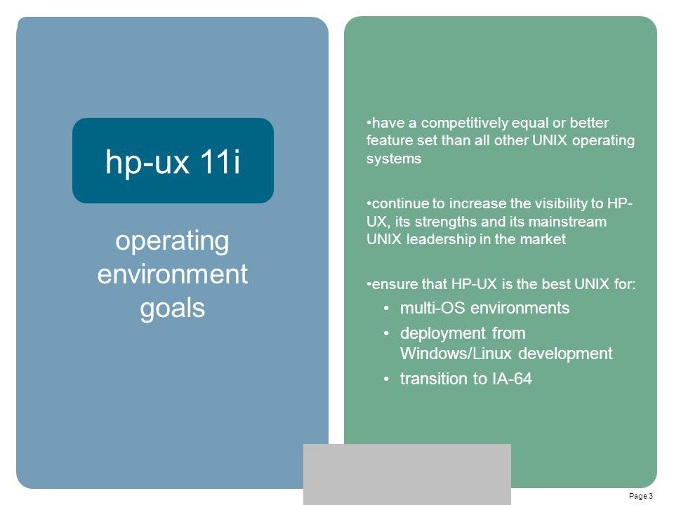 operating environment goals
