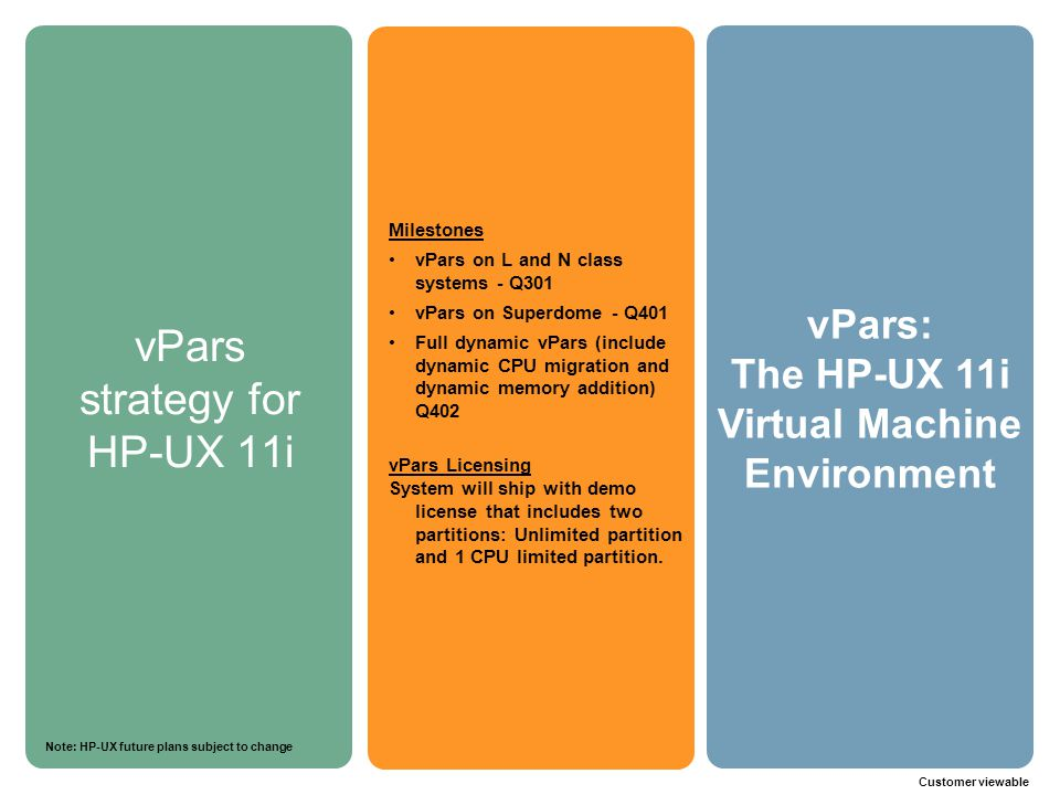 vPars strategy for HP-UX 11i