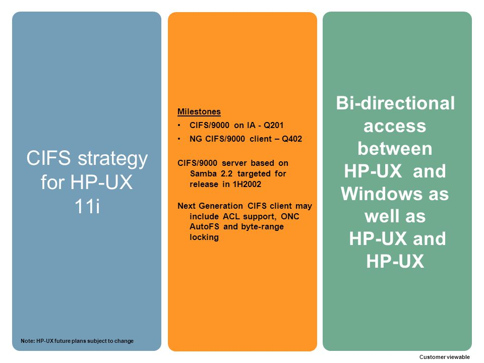 CIFS strategy for HP-UX 11i