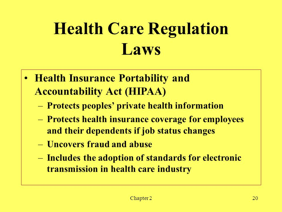 Health Care Regulation Laws