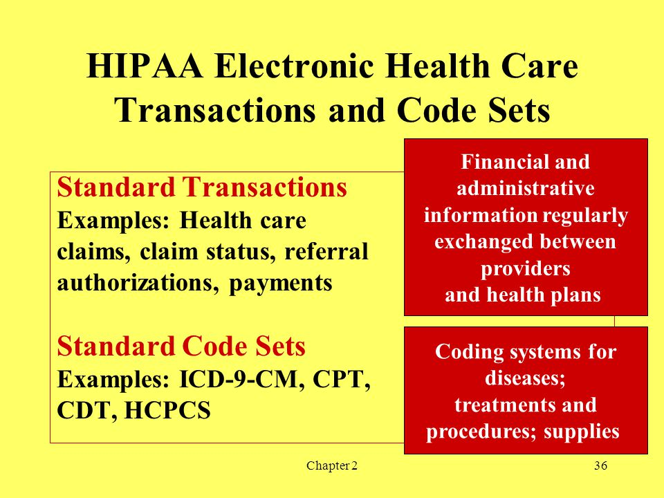 HIPAA Electronic Health Care Transactions and Code Sets