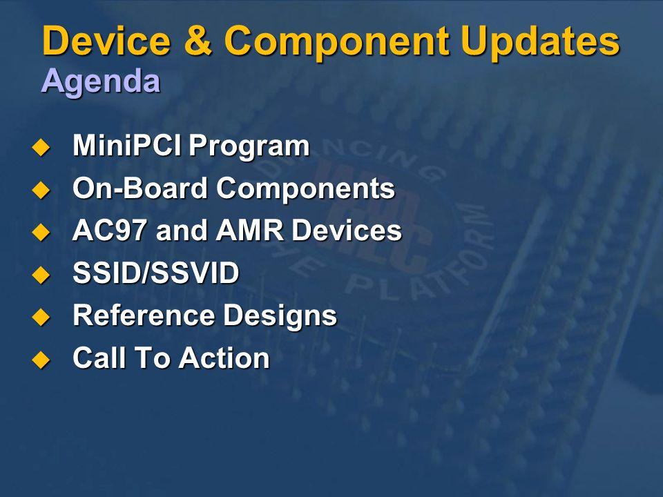 Device & Component Updates Agenda