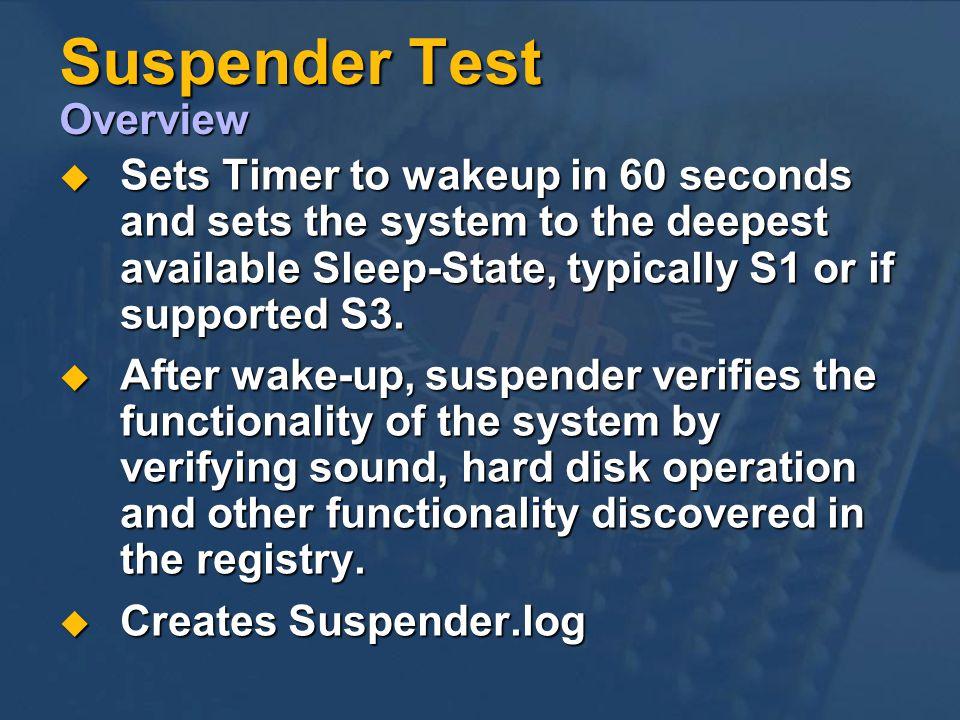 Suspender Test Overview