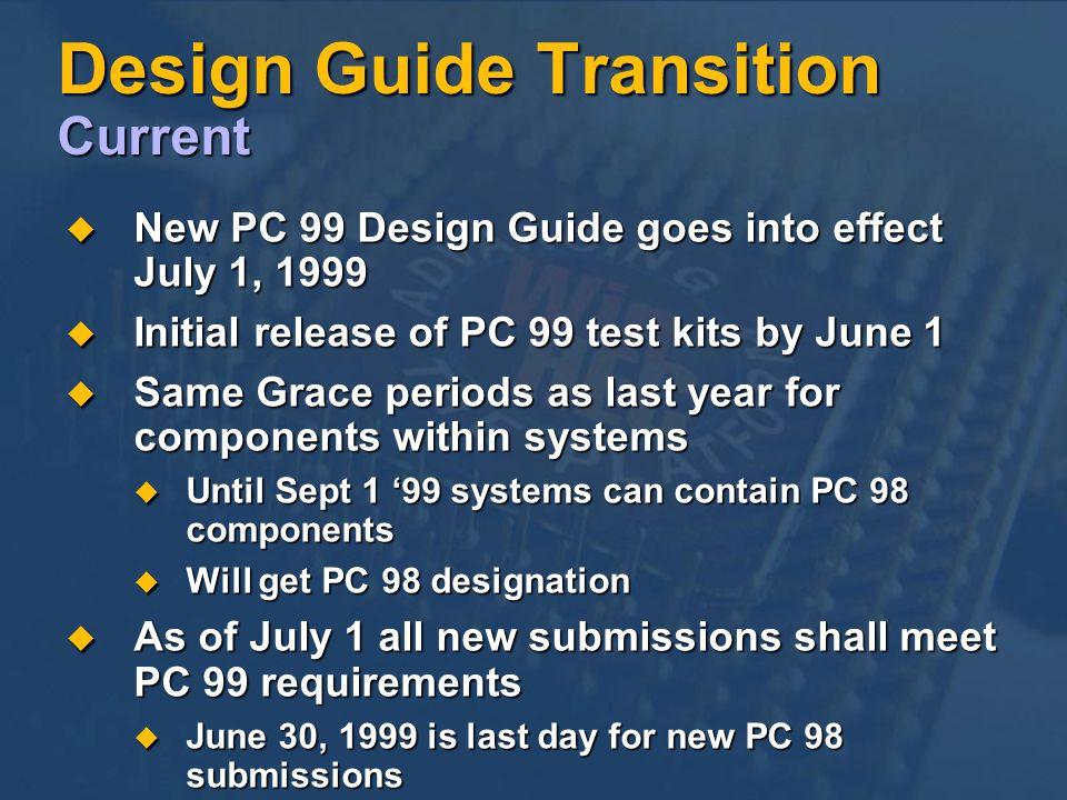Design Guide Transition Current