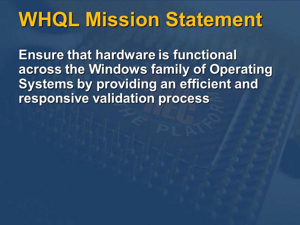 WHQL Mission Statement