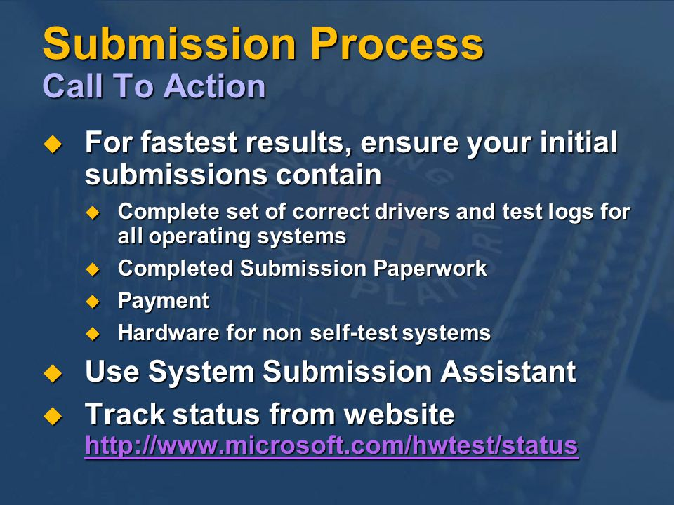 Submission Process Call To Action