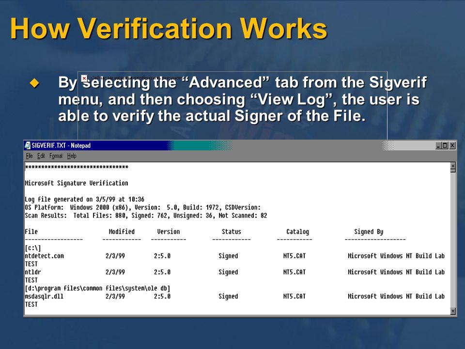 How Verification Works