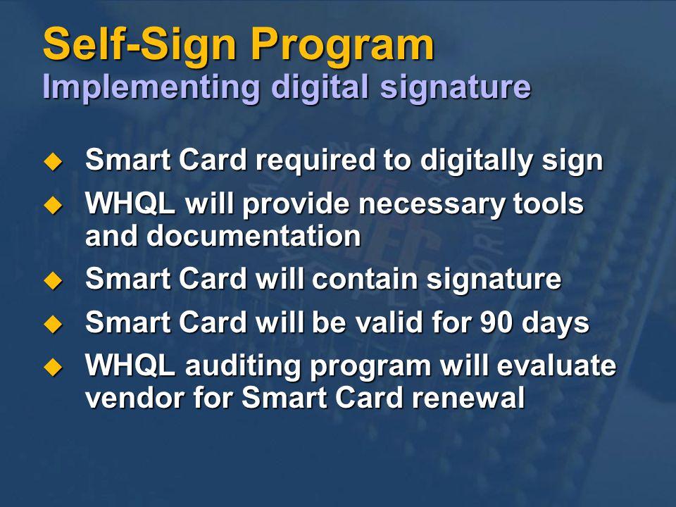 Self-Sign Program Implementing digital signature