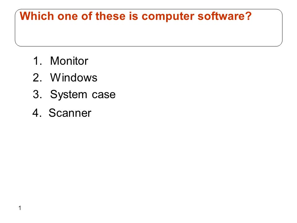 Which one of these is computer software