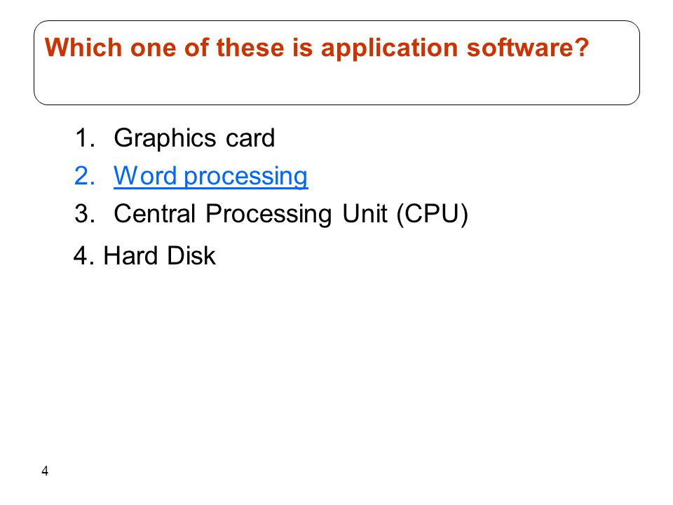 Which one of these is application software