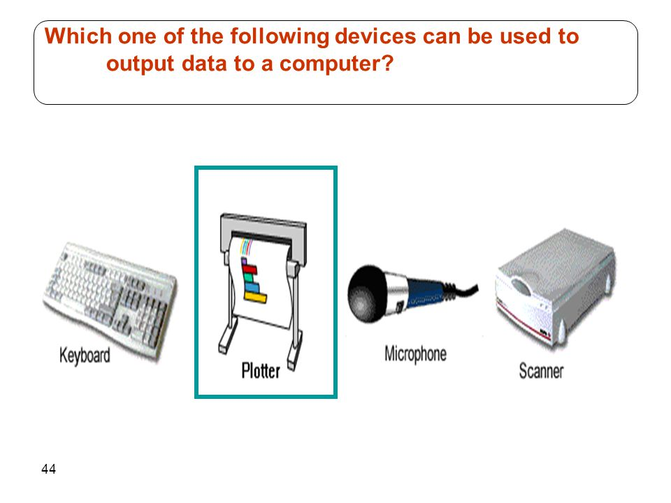 Which one of the following devices can be used to output data to a computer