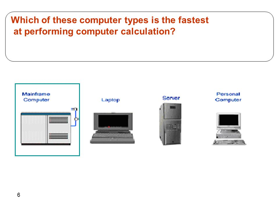 Which of these computer types is the fastest