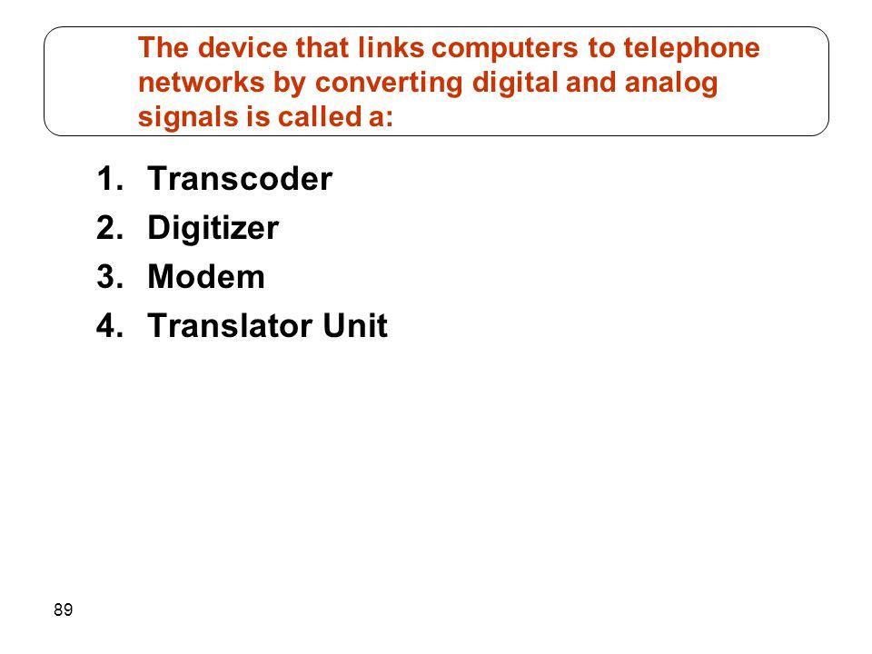 Transcoder Digitizer Modem Translator Unit