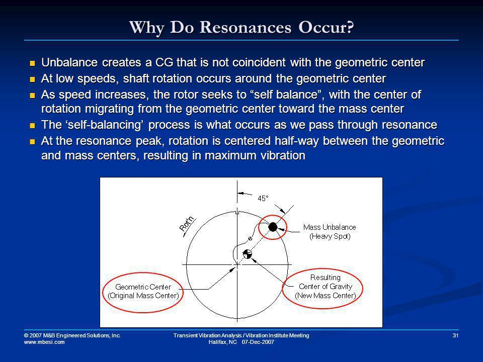 Why Do Resonances Occur