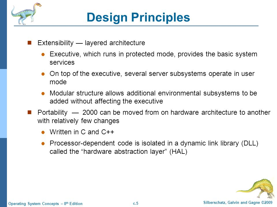 Design Principles Extensibility — layered architecture