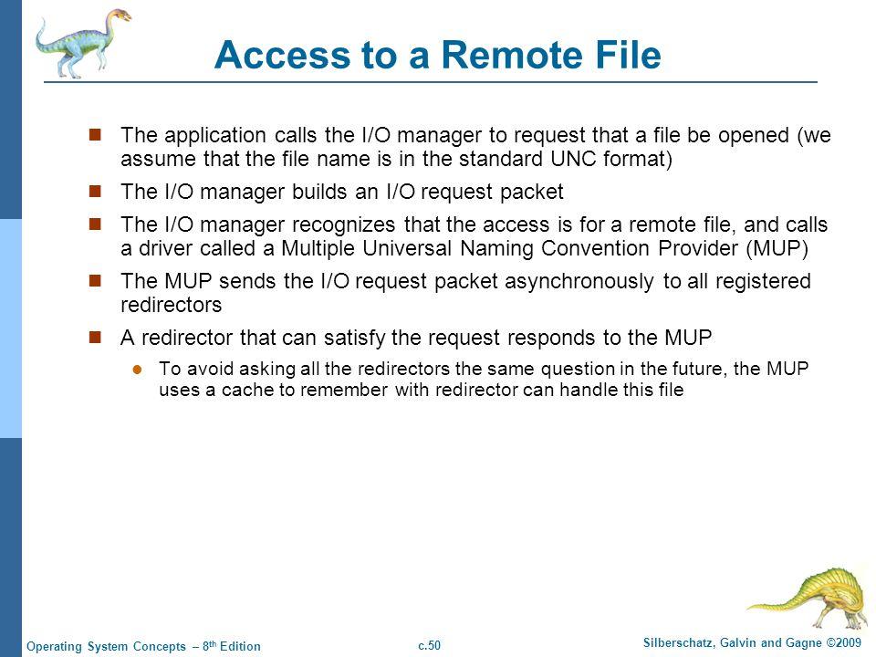 Access to a Remote File